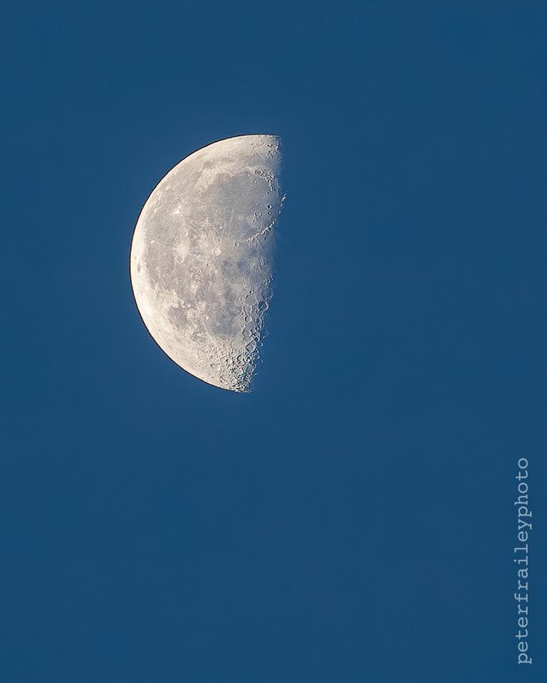 Daytime Quarter Moon